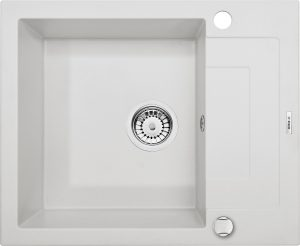 Deante Rapido Zlewozmywak 1-komorowy z krótkim ociekaczem - alabaster ZQKA11A