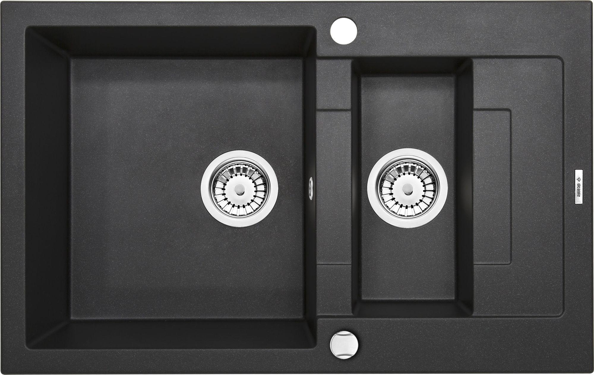 Deante Rapido Zlewozmywak 1,5-komorowy z krótkim ociekaczem - grafitowy metalik ZQKG513