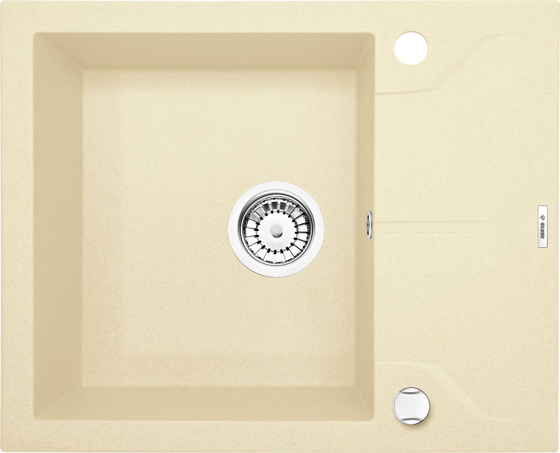 Deante Andante Zlewozmywak 1-komorowy z krótkim ociekaczem - szampan ZQN111A