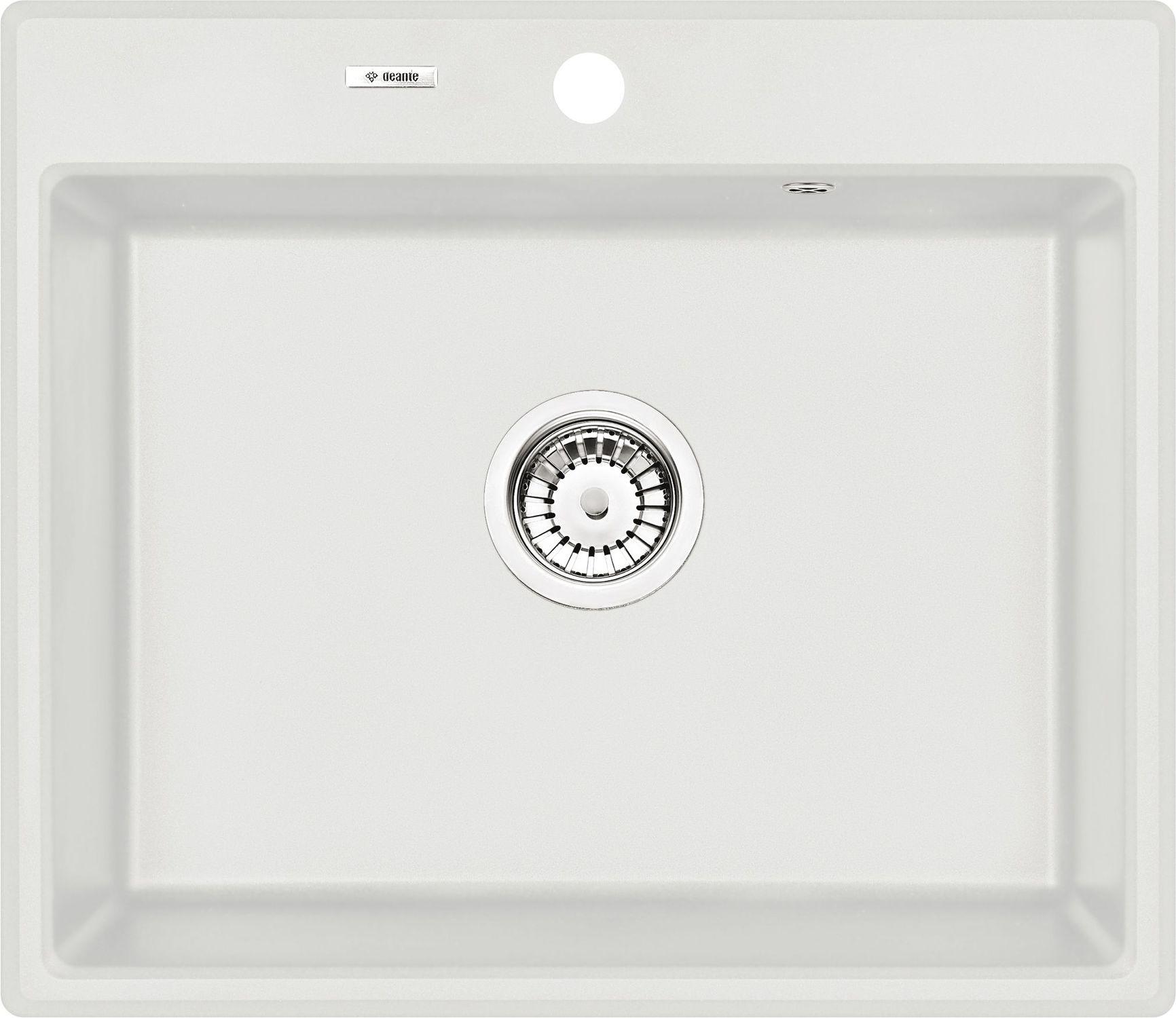 Deante Andante Zlewozmywak granitowy 1-komorowy - alabaster ZQNA103