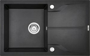 Deante Andante Flush Zlewozmywak 1-komorowy z ociekaczem - grafit metalik ZQNG11F
