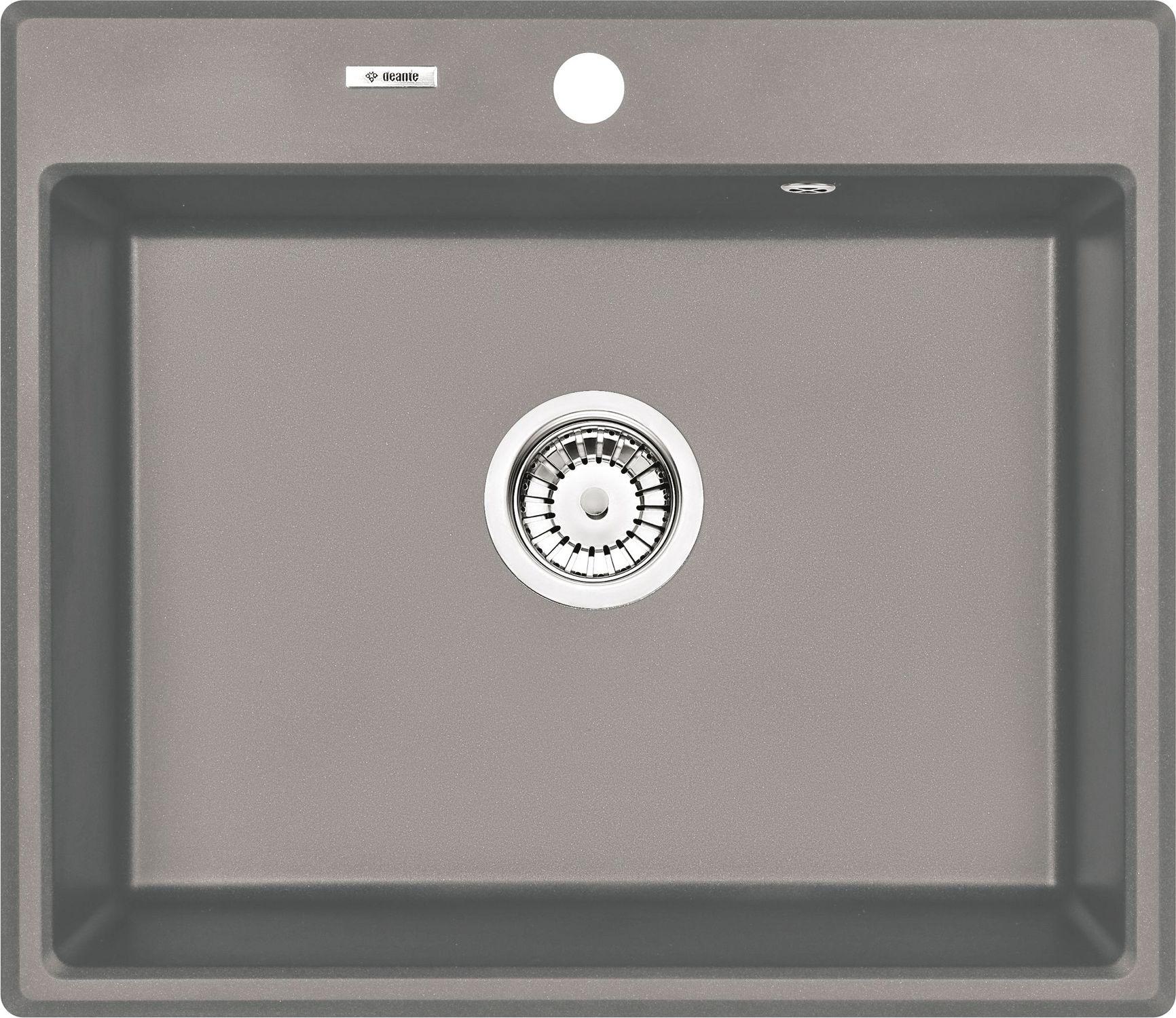 Deante Andante Zlewozmywak granitowy 1-komorowy - szary metalik ZQNS103