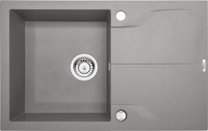 Deante Andante Flush Zlewozmywak 1-komorowy z ociekaczem - szary metalik ZQNS11F
