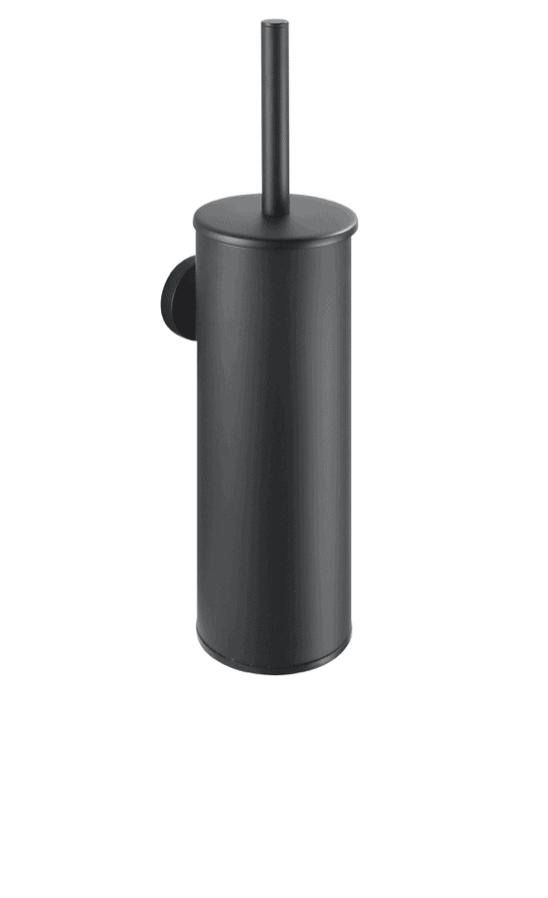 Szczotka WC wysoka wisząca Stella Classic metalowy pojemnik, wkład z tworzywa czarny mat 07.435-B