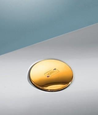 Syfon i korek do brodzika Huppe Easy Step złoto 24 karatowe 215480R89