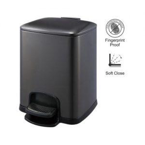 Kosz pedałowy PREMIUM prostokątny 8 L Stella grafit metalik  20.20308-B _