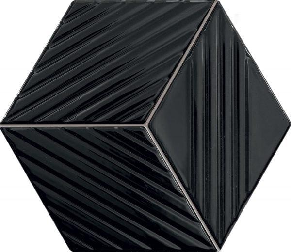 Zdjęcie Mozaika ścienna Tubądzin Colour black 19,8×22,6 cm