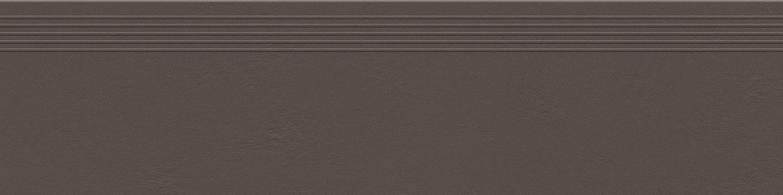 Stopnica podłogowa Tubądzin Industrio Dark Brown MAT 119,8x29,6 cm