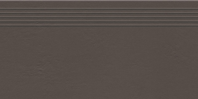 Stopnica podłogowa Tubądzin Industrio Dark Brown MAT 59,8x29,6 cm