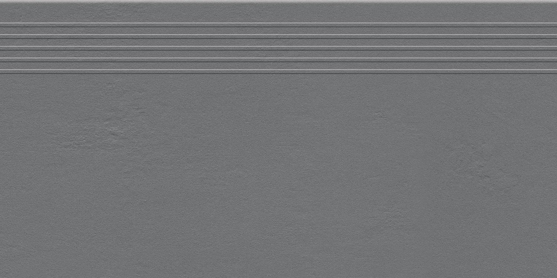 Stopnica podłogowa Tubądzin Industrio Graphite MAT 59,8x29,6 cm