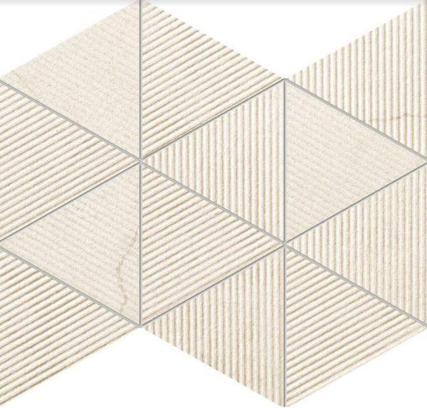 Zdjęcie Mozaika ścienna Tubądzin Clarity beige 32,8×25,8 cm (p) MS-01-200-0328-0258-1-010