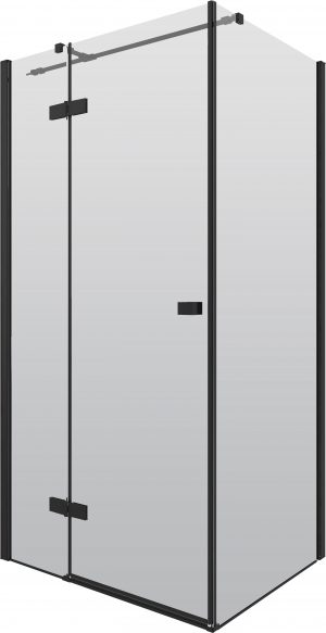 Kabina prostokątna Deante Arnika 90×100 cm czarna KQA_047P