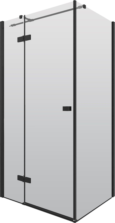 Kabina prostokątna Deante Arnika 90x100 cm czarna KQA_047P