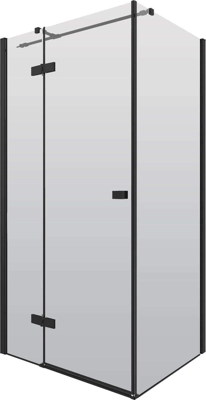 Kabina prostokątna Deante Arnika 80x100 cm czarna KQA_046P