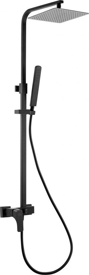 Deante Hiacynt Nero Deszczownia z baterią mieszaczową czarny NAC_N1QM