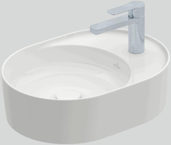 Zdjęcie Umywalka nablatowa Villeroy & Boch Collaro owalna 510 x 380 mm Weiss Alpin 4A155101