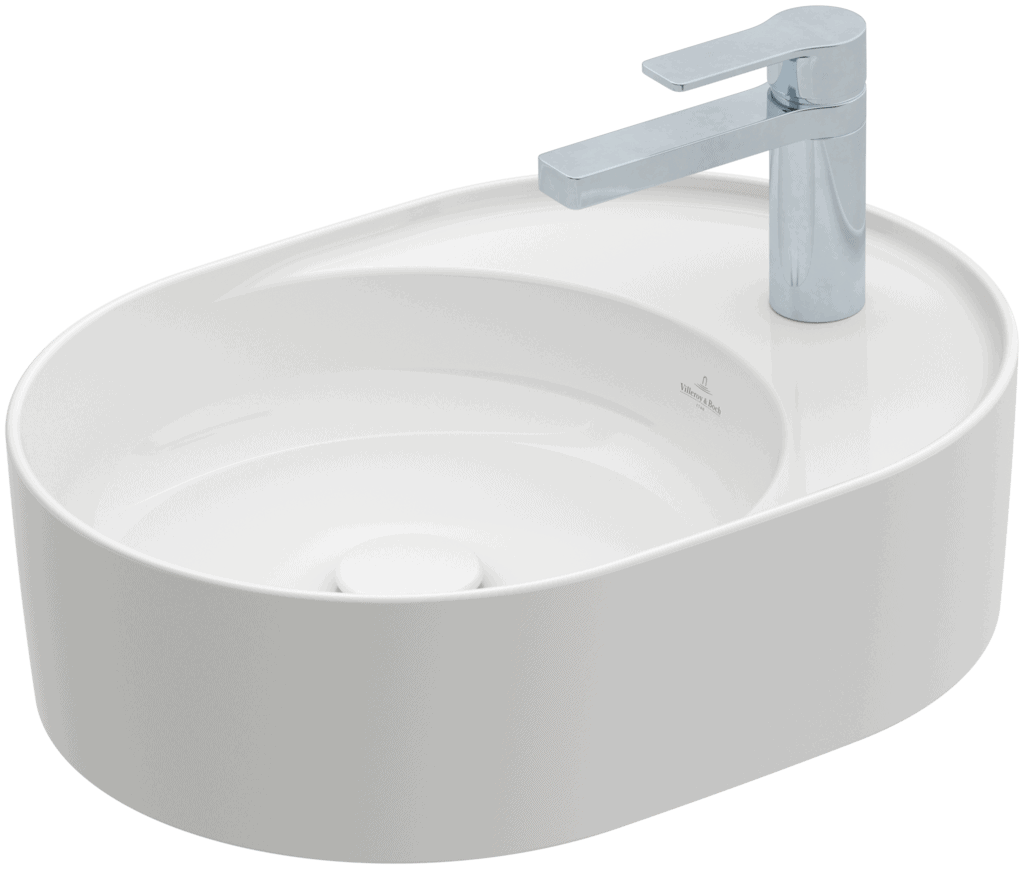 Umywalka nablatowa Villeroy & Boch Collaro owalna 510 x 380 mm Weiss Alpin 4A155101