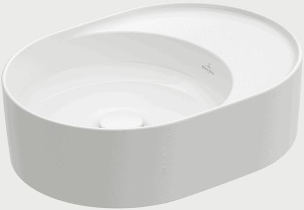 Zdjęcie Umywalka nablatowa Villeroy & Boch Collaro owalna 510 x 380 mm Weiss Alpin CeramicPlus 4A1553R1
