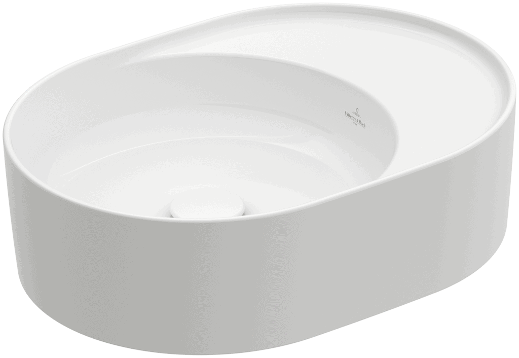 Umywalka nablatowa Villeroy & Boch Collaro owalna 510 x 380 mm Weiss Alpin 4A155301