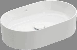 Umywalka nablatowa Villeroy & Boch Collaro owalna 560 x 360 mm Weiss Alpin 4A195601