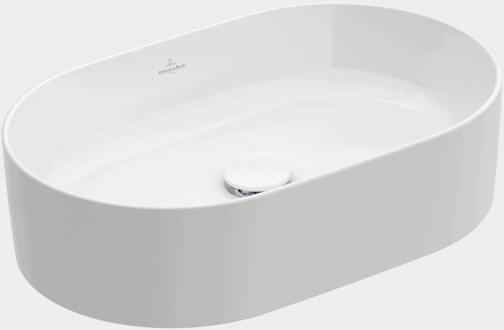 Zdjęcie Umywalka nablatowa Villeroy & Boch Collaro owalna 560 x 360 mm Weiss Alpin CeramicPlus 4A1956R1