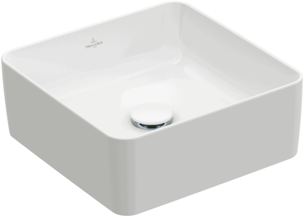 Zdjęcie Umywalka nablatowa Villeroy & Boch Collaro 380 x 380 mm Weiss Alpin CeramicPlus 4A2138R1