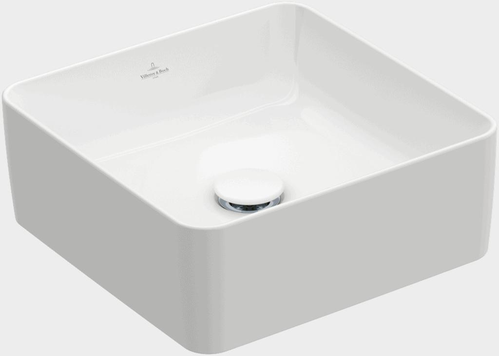 Umywalka nablatowa Villeroy & Boch Collaro 380 x 380 mm Weiss Alpin CeramicPlus 4A2138R1