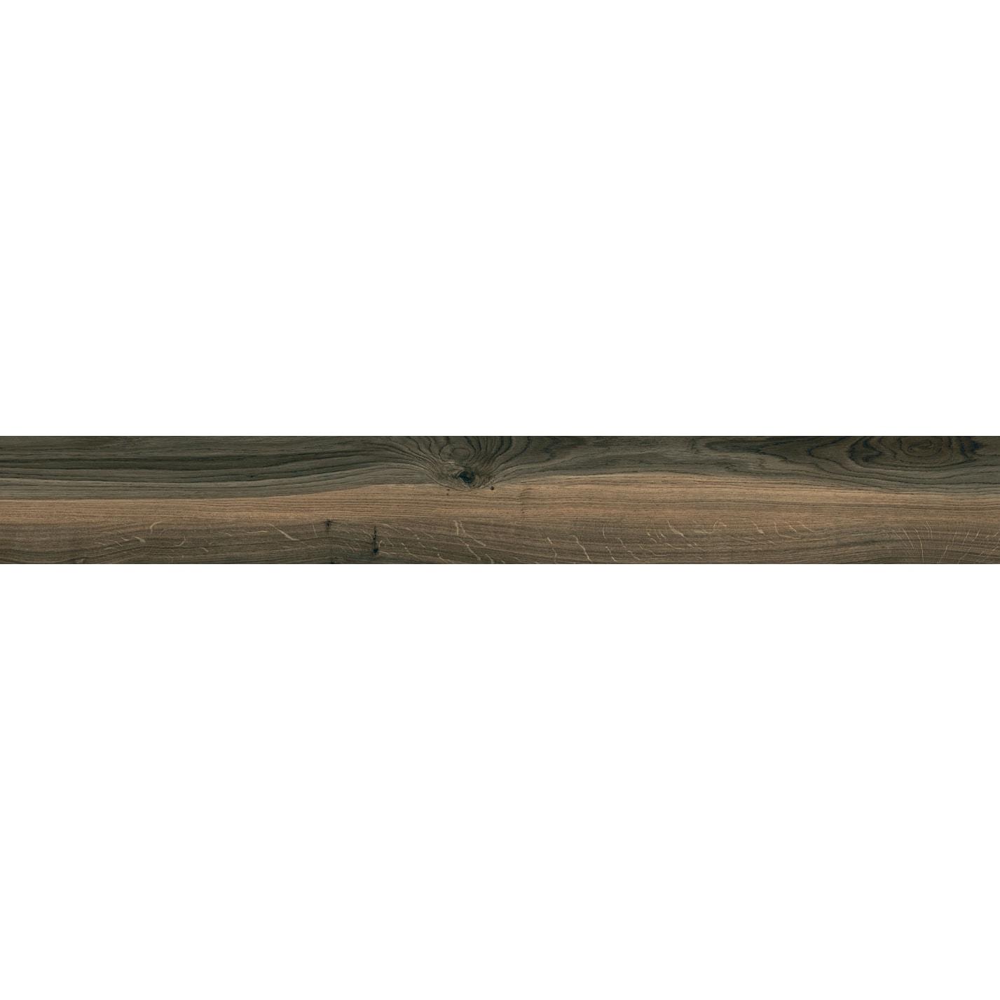 Płytka podłogowa deskopodobna Tubądzin Wood Block brown STR 179,8x23 cm