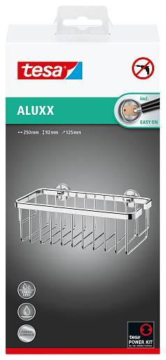 Zdjęcie Koszyk łazienkowy Tesa Aluxx 92x250x125 bez wiercenia 40201