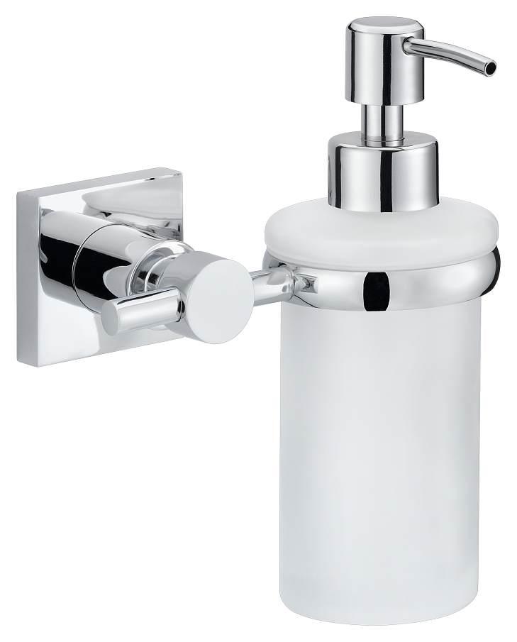 Dozownik mydła Tesa Hukk 170x127x110 mm chromowany metal /matowe szkło 40255