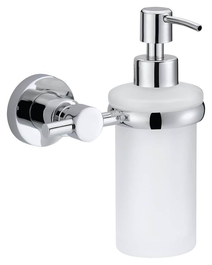 Dozownik mydła Tesa Loxx 170x127x107 mm chromowany metal /matowe szkło 40281