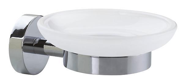 Mydelniczka Tesa Smooz 52x110x130 mm chromowany metal /matowe szkło 40324