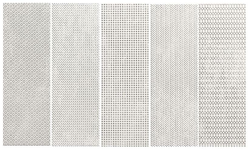 Płytka ścienna Tubądzin Brave platinum STR 14,8x44,8 cm