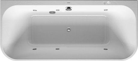 Wanna z hydromasażem przyścienna Duravit Happy D.2 180x80 cm 760318000JS1000