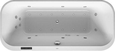 Wanna z hydromasażem do wbudowania Duravit Happy D.2 180x80 cm 760320000CL1000