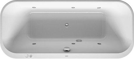 Wanna z hydromasażem do wbudowania Duravit Happy D.2 180x80 cm 760320000JS1000