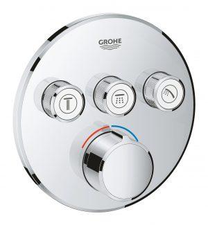 GROHE SmartControl - podtynkowa bateria do obsługi 3 wyjść wody chrom 29146000 .