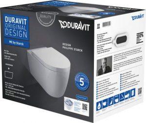 Zestaw WC z miską wiszącą ME by Starck Duravit Rimless 45290900A1 (2529090000 + 0020090000)