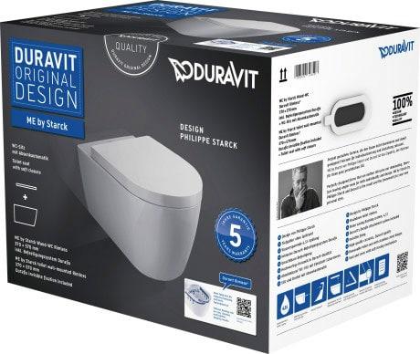 Zestaw WC z miską wiszącą ME by Starck Duravit Rimless 45290900A1