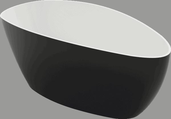 Zdjęcie Wanna wolnostojąca Riva czarno-biała 157×70 cm