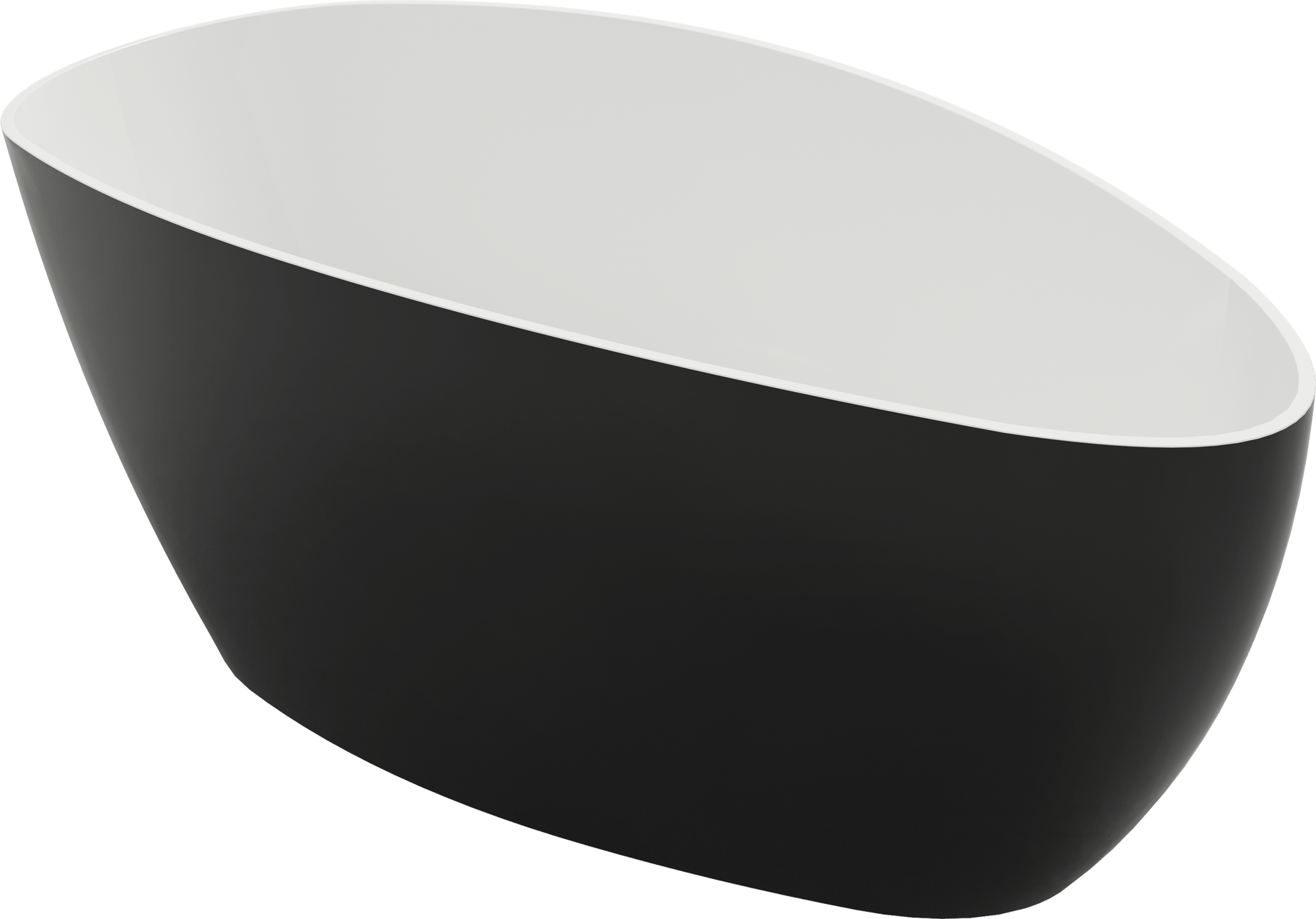 Wanna wolnostojąca Marmite Rita XL bicolor 170x77 cm czarno-biała 622500171000
