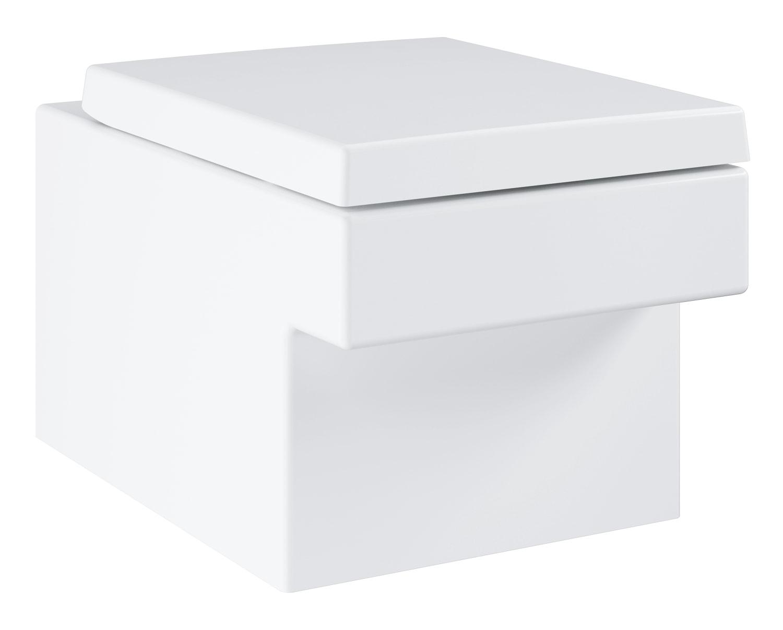 Zdjęcie GROHE Cube Ceramic – miska WC wisząca biała + wolnoopadająca deska sedesowa 3924400H + 39488000 @