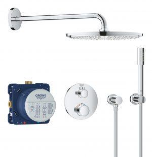 GROHE Grohtherm Rainshower Cosmopolitan 310 - termostatyczny system prysznicowy do montażu podtynkowego chrom 34731000