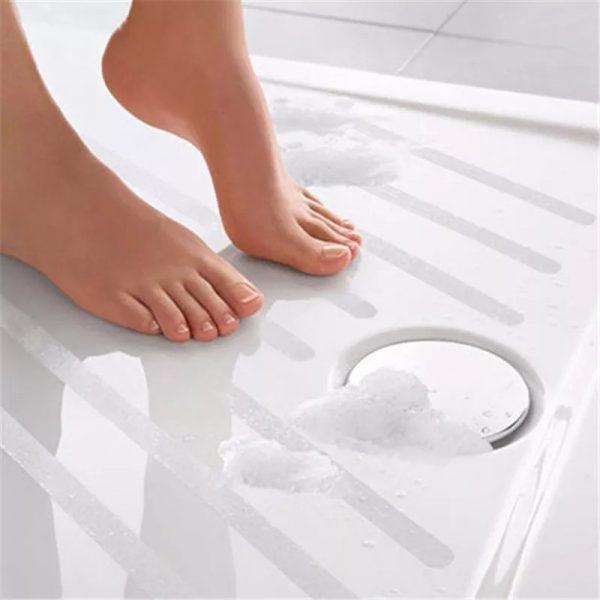 Zdjęcie Naklejki antypoślizgowe transparentne Anti-slip Strip  6 sztuk