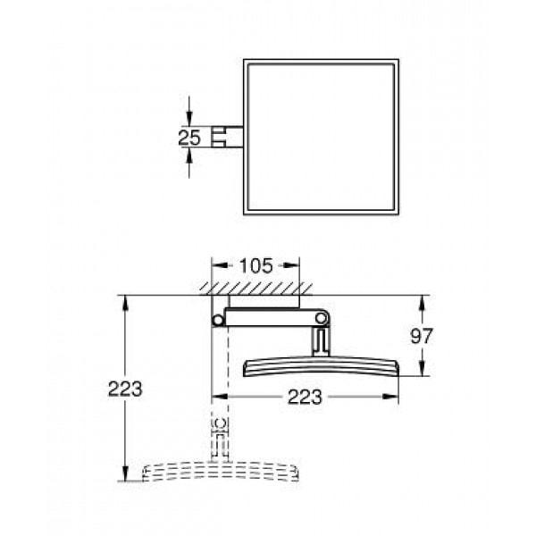 Zdjęcie Lusterko kosmetyczne Grohe Selection Cube chrom 40808000
