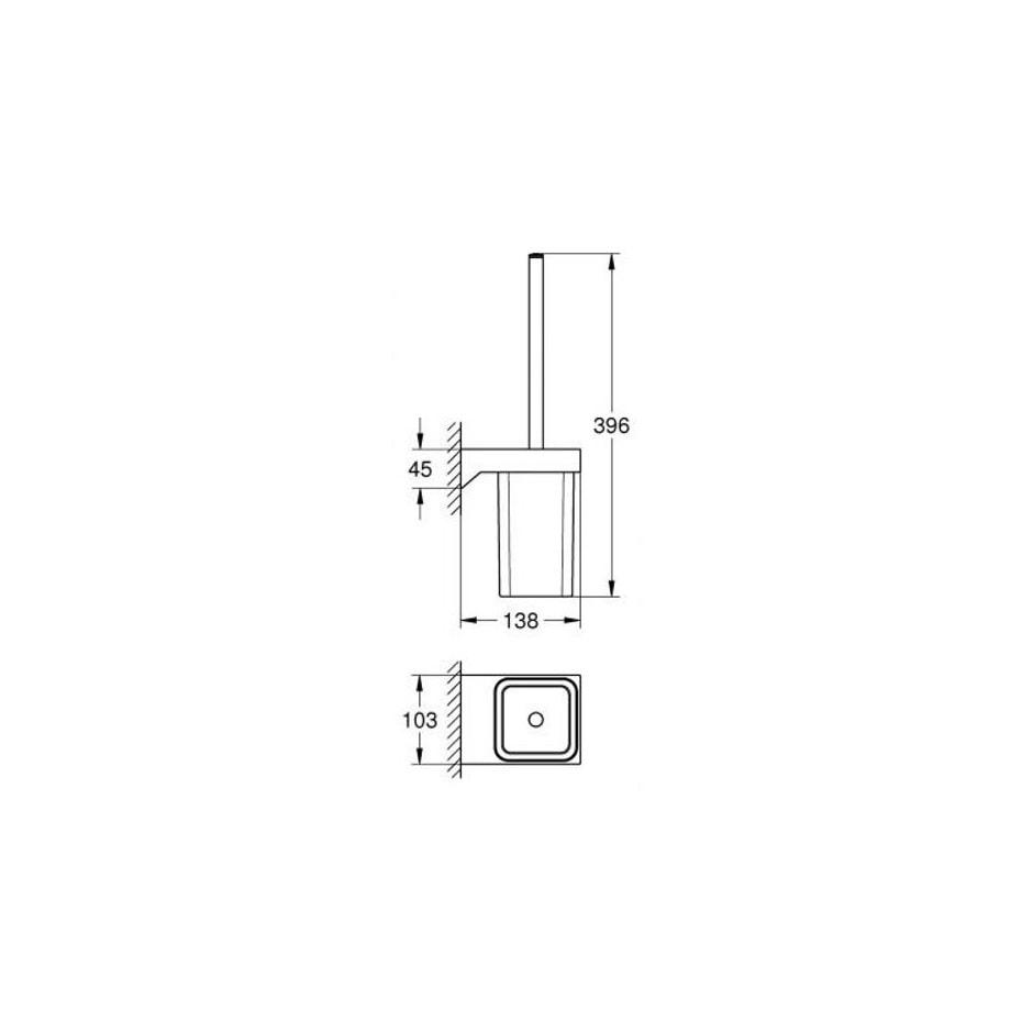 Zdjęcie Szczotka toaletowa kpl Grohe Selection Cube chrom 40857000
