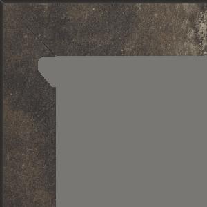 Płytki elewacyjne Cokół Paradyż Scandiano Brown 2 EL.-LEWY 8,1X30 cm