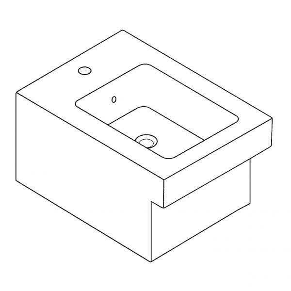Zdjęcie GROHE Cube Ceramic – bidet wiszący 3948600H