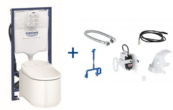 Zdjęcie GROHE Sensia Arena Toaleta myjąca + Stelaż Grohe Rapid SL + Zestaw do spłukiwania automatycznego 39354SH1+39112001+46944000