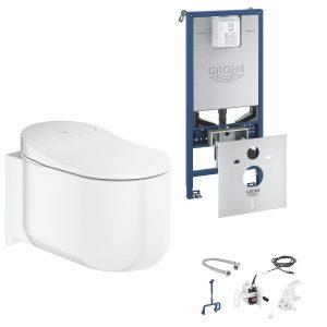 GROHE Sensia Arena Toaleta myjąca + Stelaż Grohe Rapid SLX + Zestaw do spłukiwania automatycznego 39354SH1+39598000+46944001